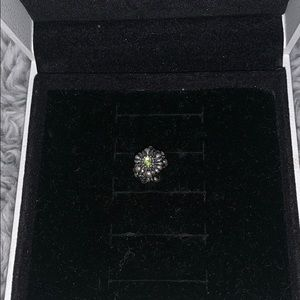 Pandora flower charm with birth stone